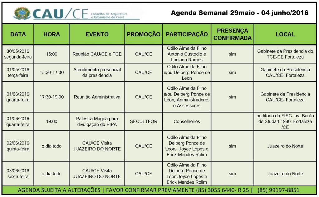 agenda 29maio-04junho
