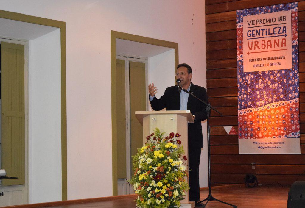Odilo Almeida, presidente do CAU/CE, representou a entidade